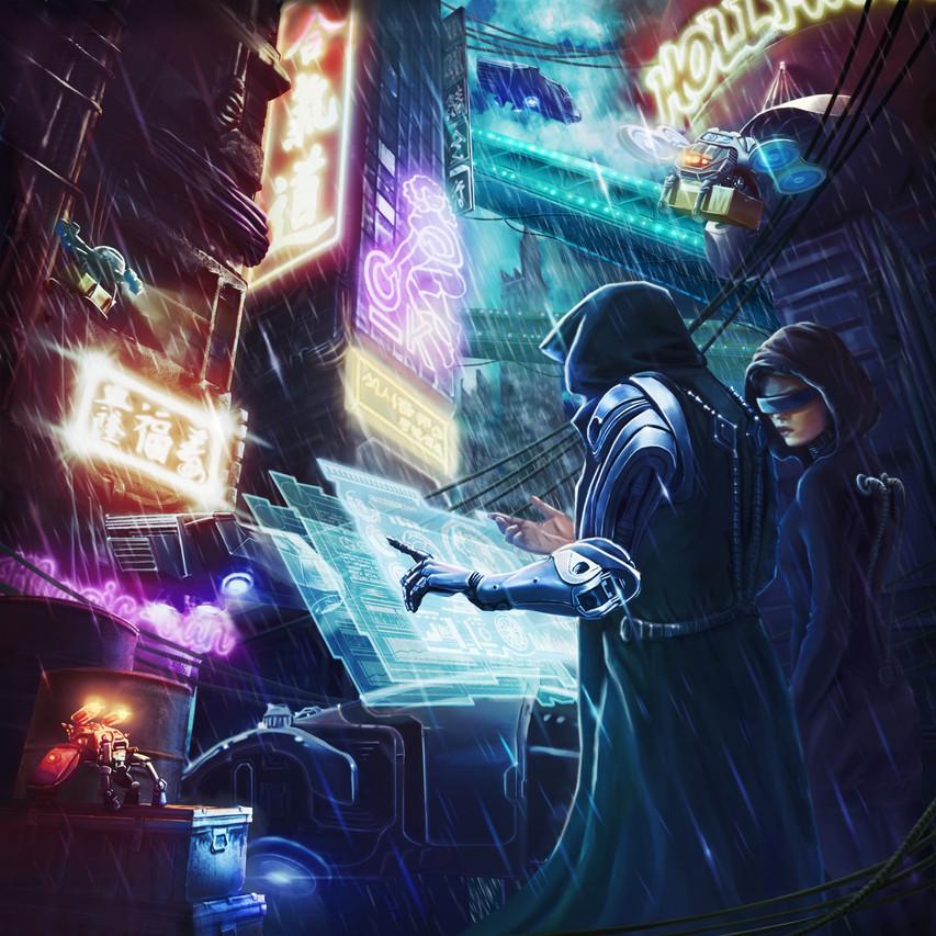 VR Escape Room Abenteuer Cyberpunk