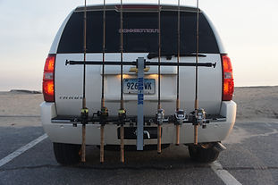 SUV locking fishing rod rack
