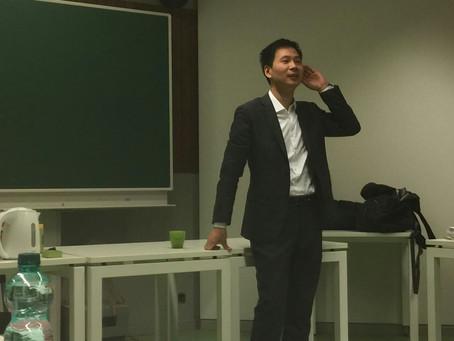Yao Zhongbin in Leuven!