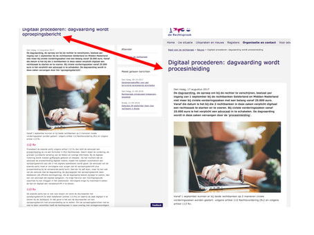 Oproepings-bericht of procesinleiding?