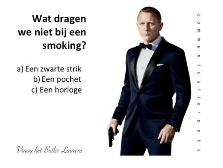 James Bond-actie!