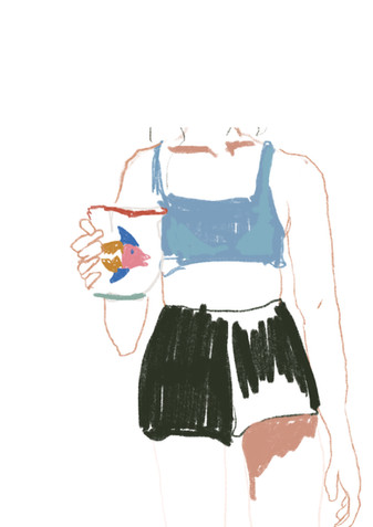 jugs of ice water