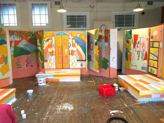 Set design and scenic art for Hopsctoch Theatre