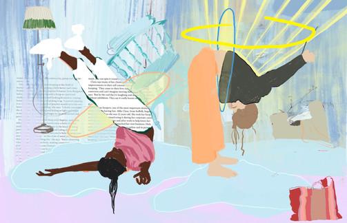 WIP Illustration for Breathe Magazine
