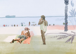 on malaga beach .JPG