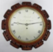 Barraud Cornhill London walnut silvered dial wall clock antique