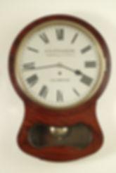 Stevenston Islington London mahogany fusee drop dial wall clock fusee antique