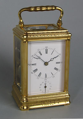 1438 Drocourt engraved carriage clock