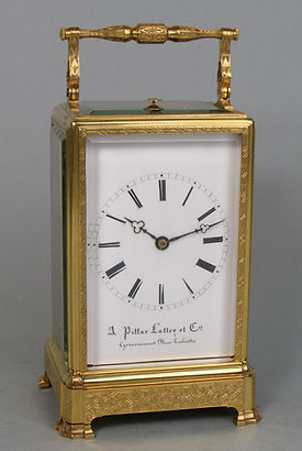 Pittar Lattey Paris French carriage clock