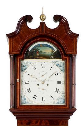 Lister Halifax  mahogany antique longcase grandfather clock eight day striking moonphase