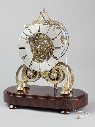 Edwards Stouridge striking skeleton clock antique fusee