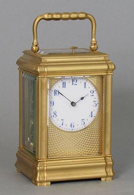 Soldano Paris miniatre strikng gorge carriage clock france