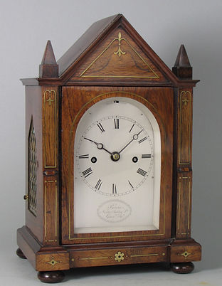 Purvis London rosewoo fusee strikin bracke clock antique