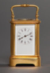 Miniature French carriage clock