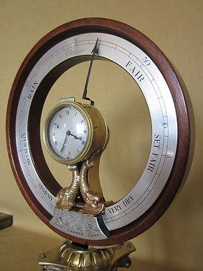 Carmen london r mahogany clock barometer