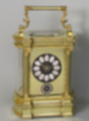 Bow sided French carriage clock