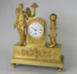 Tupman London Baetens fusee mantel bracket ormolu antique clock