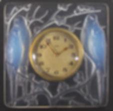 Lalique quatre perches glass easel clock antique