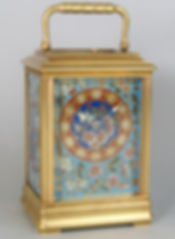 Pons Enamelled French carriage clock