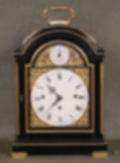 William Dutton London ebonised bracket clock antique