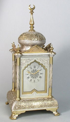 Ottoman Delepine Frenchantique mantel carriage clock