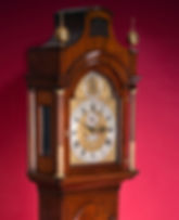 Thomas Battely London  mahogany antique longcase grandfather clock eight day striking brass dial pagoda top