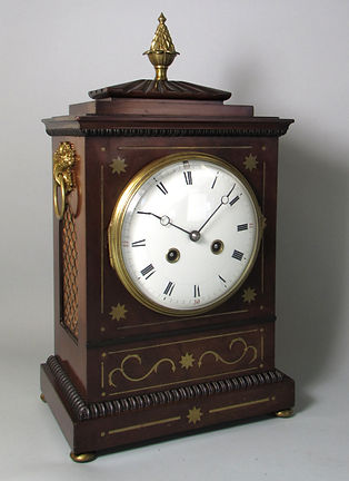 French striking Marti Paris mahogany mantel clock antique