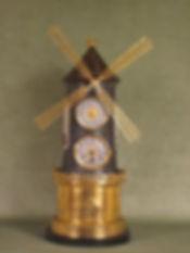 automata clok antique france paris Guilmet windmill