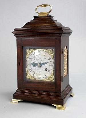 John Green Philadelphia mahogny bracket clock fusee antique