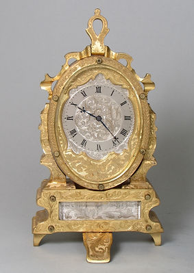Thomas Cole easel clock antique english