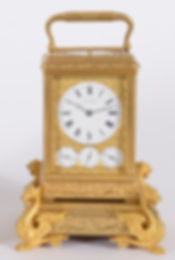 Drocourt Paris French grande sonnerie engraved carriage clock