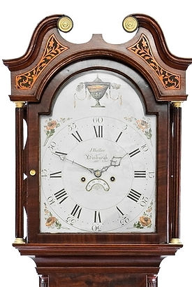 Walker Edinburgh  mahogany antique longcase grandfather clock eight day striking painted dial