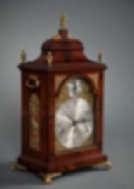 Gilbertson ripon John Taylor London mahogany three train quarter chiming bracket clock verge escapement
