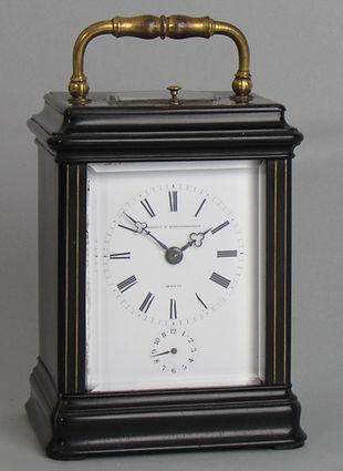 Jacot Paris Ebony French carriage clock