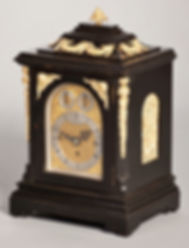 Howell and James London ebonised quarter chiming antique bracket clock fusee