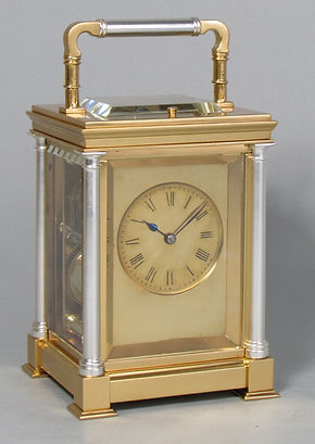 Delepine Pons Paris French carriage clock