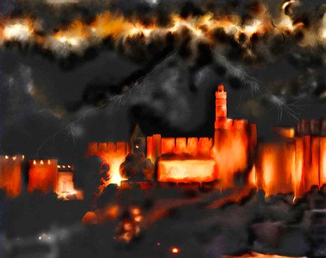 Jerusalem; Stormy skies