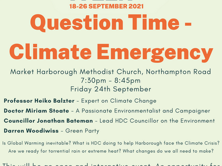 Question Time - Climate Emergency.