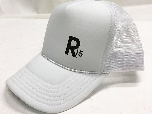 R15: R15ER ORIGINAL TRUCKER HAT - SATELLITE WHITE EDITION