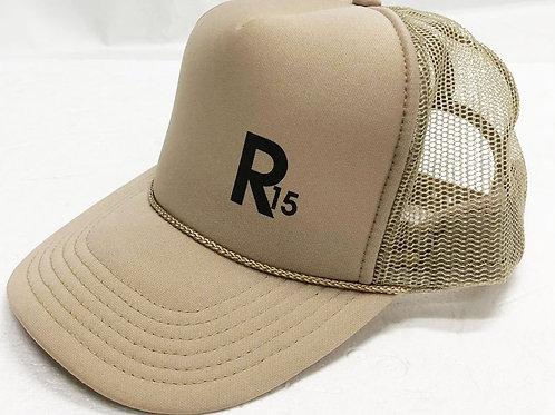 R15: R15ER ORIGINAL TRUCKER HAT - GOLD STARDUST EDITION