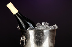 Champagne et vins au frais