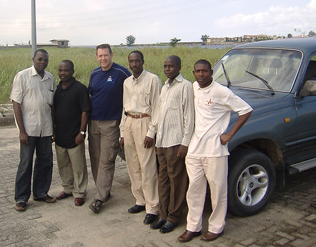 Mick with his group of students in Nigeria