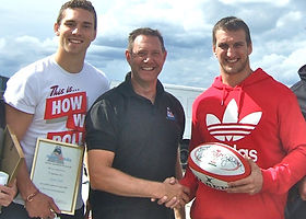 Welsh Rugby Players: Sam Warburton and George North
