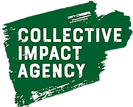 The words Collective Impact Agency in white on a green background