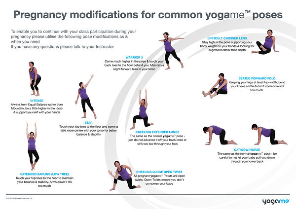 yogame™ pregnancy guide, information for doing yogame™ when pregnant