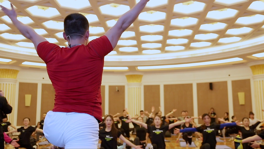 曾建 presenting yogame | sport at Nike Super Workshop 2017, Shanghai