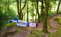 Inflatable SUP in the Forest