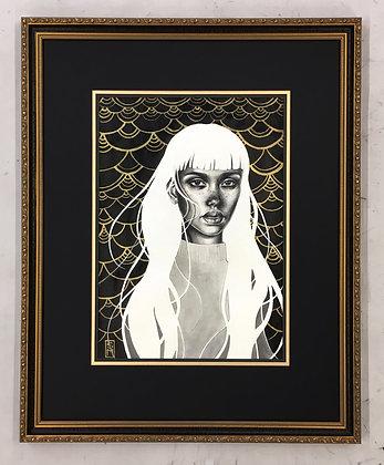 """Framed Original Artwork: """"Emily"""""""
