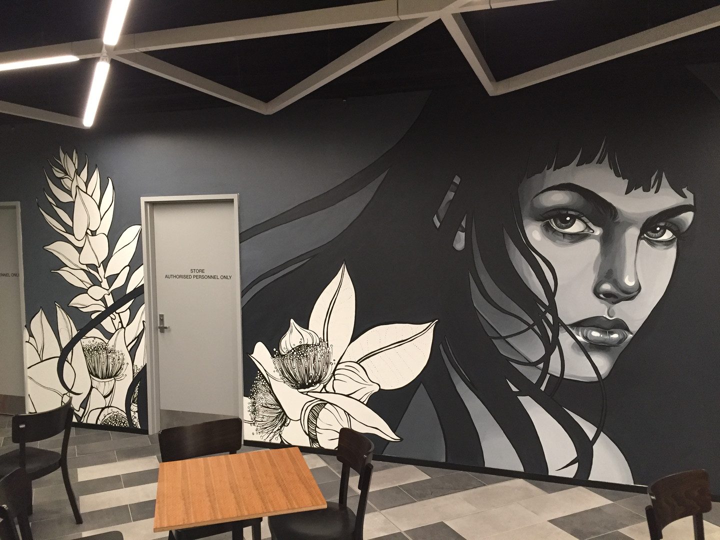 Mural commissioned by Assembly + Co and Mirvac for the new precinct in Perth CBD, 'Underground @ Allendale Square'. (2017)