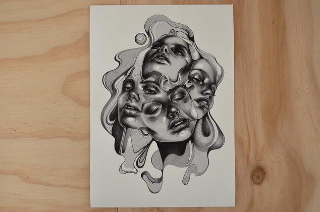 Giclée Print: Converge (A4)